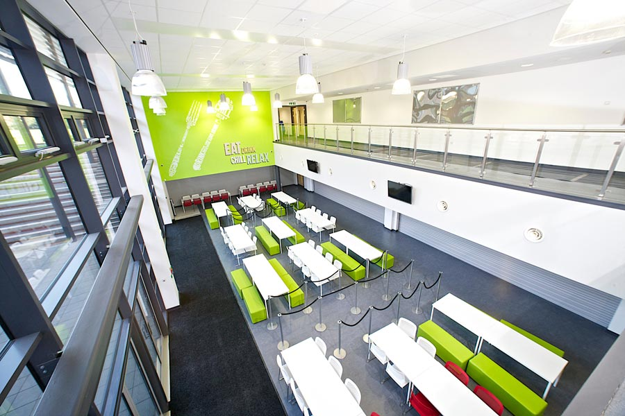 City of Leicester College Main Dining Area