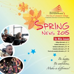 Spring Newletter 2015 front cover