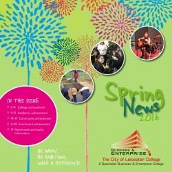 Spring Newsletter 2016 front cover