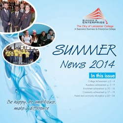 Summer Newsletter 2014 front cover